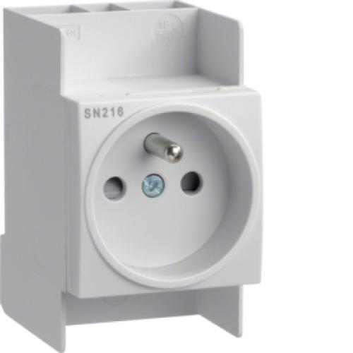 Zásuvka na DIN lištu Hager SN216 230V/16A