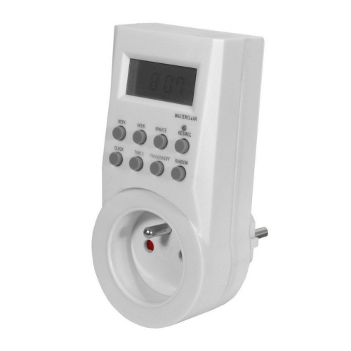 Spínací zásuvka/spínací hodiny Kanlux CYBER TM-6 digitální týdenní 01016