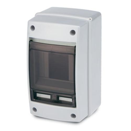 Rozvodnice na omítku Famatel 3902-T průhledné okénko 2/4M IP65 39021