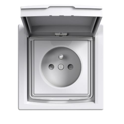 Schneider Asfora zásuvka IP44 bílá EPH2800321