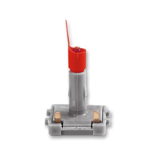 ABB Levit LED orientační doutnavka 0,5 mA červené světlo (červený límec červená tečka) 3916-05445