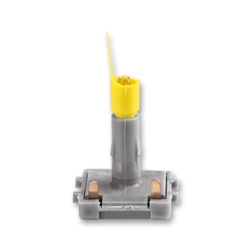 ABB Levit LED signalizační doutnavka 1 mA bílé světlo (žlutý límec bílá tečka) 3916-10444