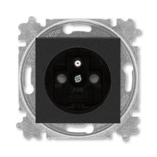 ABB Levit zásuvka onyx/kouřová černá 5519H-A02357 63 s clonkami