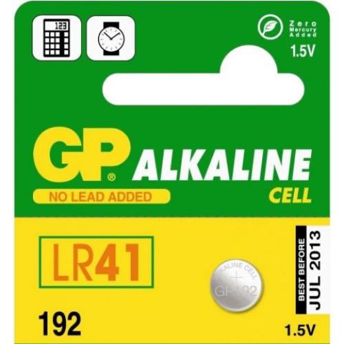 Knoflíková baterie GP LR41 192 alkalická 1ks 1041019211