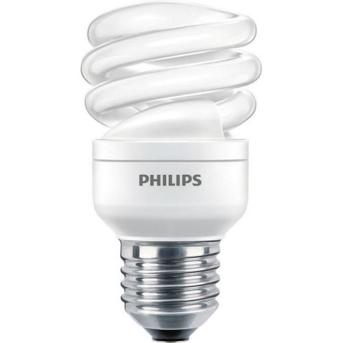 Úsporná žárovka Philips ECONOMY TWISTER 8W WW E27 teplá bílá 2700K