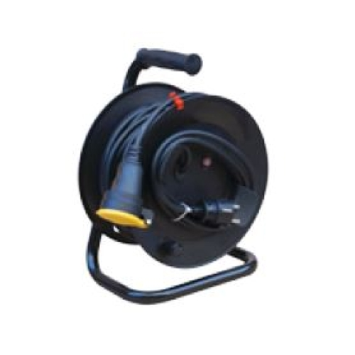 Prodlužovací kabel na bubnu 25m/1zásuvka 3x1,5 černá 396.186