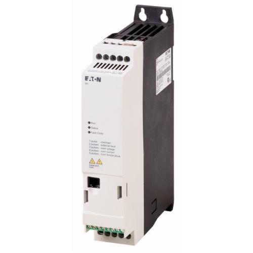 Frekvenční měnič EATON DE1-127D0FN-N20N 1x230/3x230VAC 1,5kW 7A IP20 RFI filtr 174331