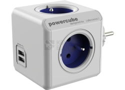 POWERCUBE ORIGINAL USB 4X230V + USB modrá