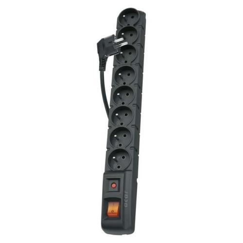 Prodlužovací kabel EMOS P53899 s přepěťovou ochranou 1,5m/8zásuvek černá 1909080153