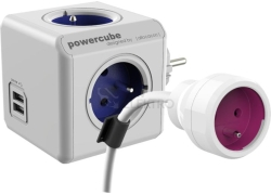 POWERCUBE DOUBLE USB (Original USB & PowerExtension) Akční set modrá/fialová
