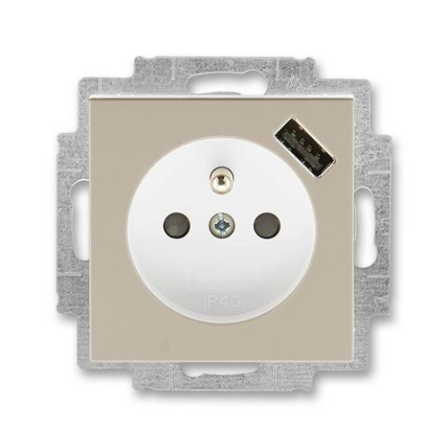 ABB Levit zásuvka macchiato/bílá 5569H-A02357 18 s USB nabíjením