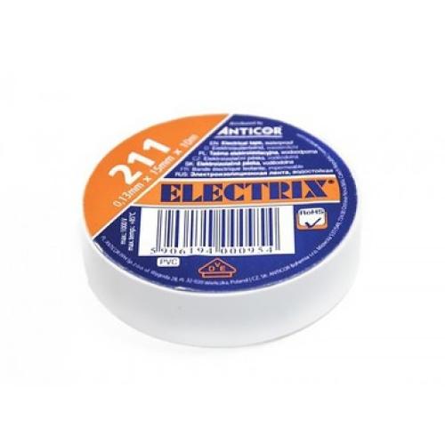 Izolační páska Anticor Electric 211 15x10 bílá