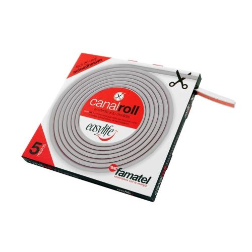 Lišta na kabely Famatel CanalRoll 71501A EasyLife 15x12mm 5m samolepící