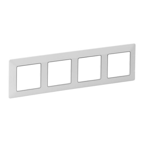 Legrand Valena LIFE čtyřrámeček bílý s chrom proužkem 754034