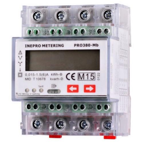 Elektroměr PRO380-MB 0,25-100A 3F, 2-sazbový M-BUS MID