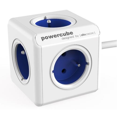 POWERCUBE EXTENDED - 5 x zásuvka + 1,5m přívodní kabel - modrá