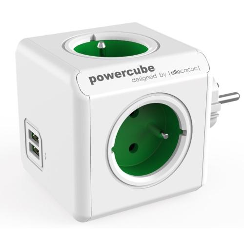 POWERCUBE ORIGINAL USB 4X230V + USB zelená