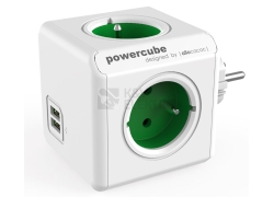 POWERCUBE ORIGINAL USB 4X230V + USB zelená