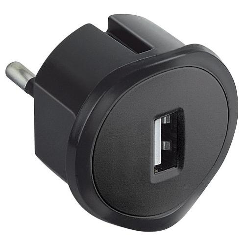 Legrand nabíječka USB adaptér 1,5A 50681 230/5V černý