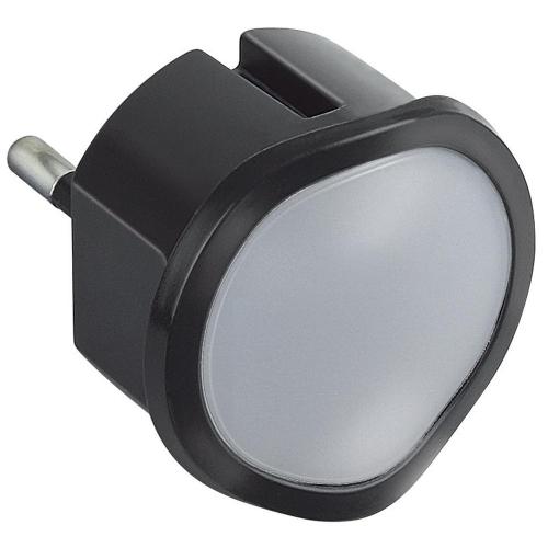 Svítidlo orientační/noční Legrand 50679 do zásuvky 0,06W černá s nouz. funkcí