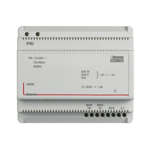 Napájecí zdroj k videotelefonům Bticino 346050 230VAC/27VDC 1200mA