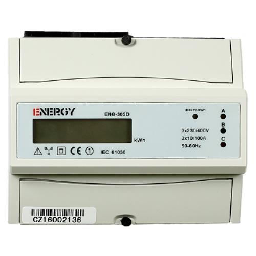 Elektroměr ENG-305D 10-100A jednosazbový neověřený