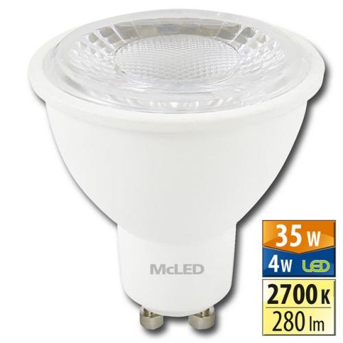 LED žárovka GU10 McLED 4W (35W) teplá bílá (2700K), reflektor 60° ML-312.134.99.0