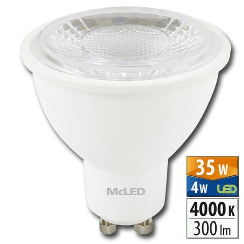 LED žárovka GU10 McLED 4W (35W) neutrální bílá (4000K), reflektor 60° ML-312.136.99.0