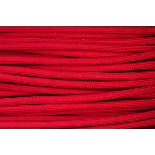 Textilní kabel H03VV-F 2x0,75 2m červená 9 (CYSY 2Dx0,75)