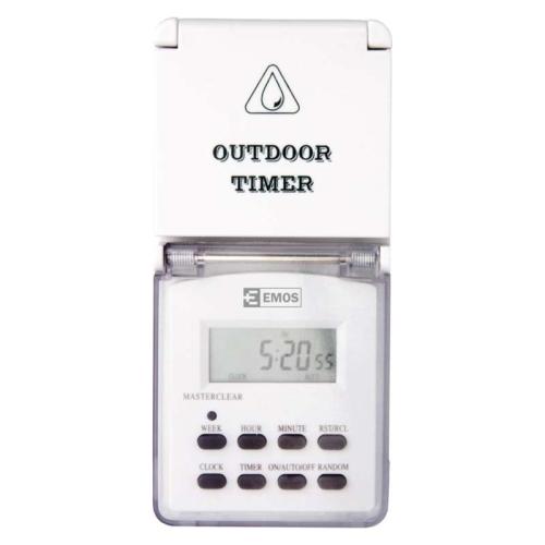 Digitální spínací zásuvka Emos TFE-5 P5507 IP44