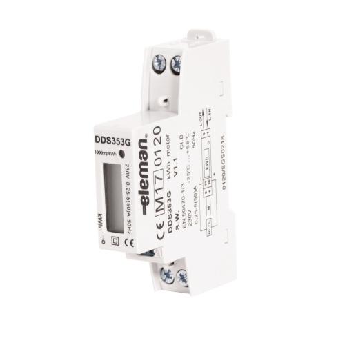 Elektroměr DDS353 50A MID, 1mod., LCD, 1F., 1tarif