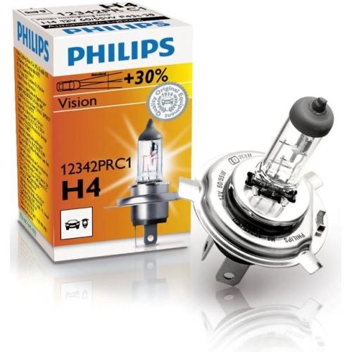 Autožárovka Philips H4 Vision 12342PRC1 60/55W 12V P43t-38