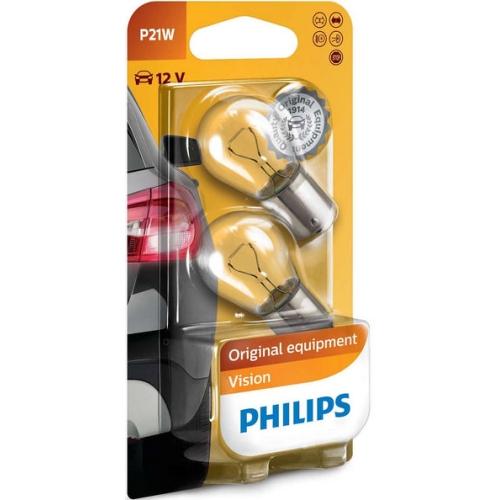 Autožárovky Philips Vision P21W 12498B2 21W 12V BA15s (v balení 2ks)