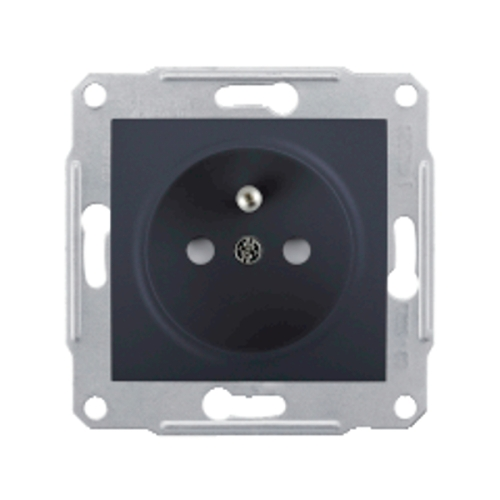 Schneider Sedna zásuvka s přepěťovou ochranou graphite SDN2800170P