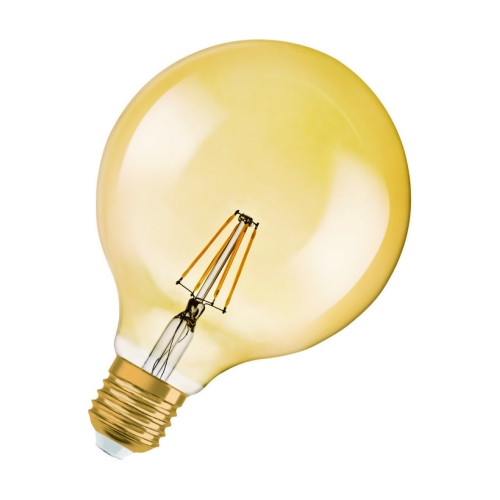 LED žárovka Vintage 1906 E27 Osram 4,5W (34W) teplá bílá (2400K) RF Filament Gold Globe125