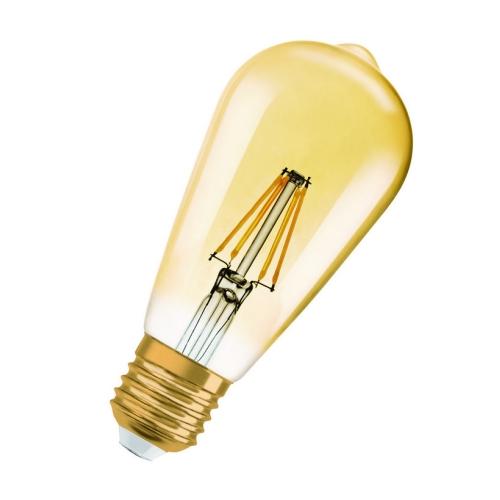 LED žárovka Vintage 1906 E27 Osram 4,5W (34W) teplá bílá (2400K) RF Filament Gold Edison