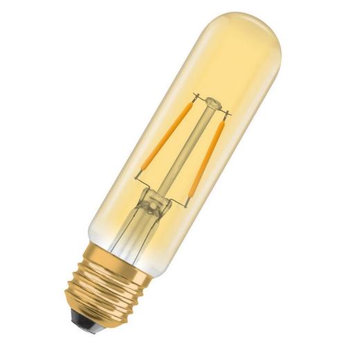 LED žárovka Vintage 1906 E27 Osram 2,8W (21W) teplá bílá (2400K) Retro Filament Gold Tubular