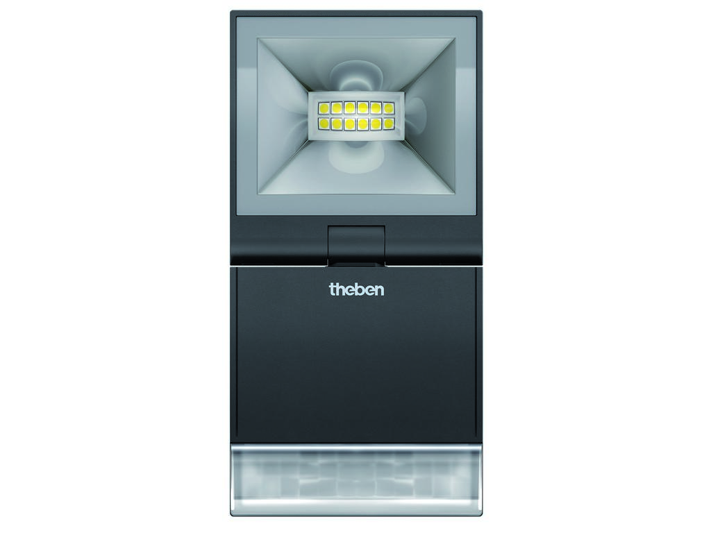 LED reflektor THEBEN s čidlem theLeda S10 BK černý 10W 840lm 4000K IP55