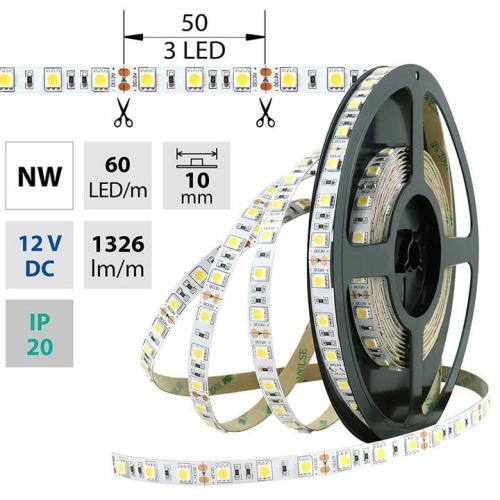 LED pásek McLED SMD5050 14,4W/m 12V IP20 10mm 60LED/m ML-121.665.60.2