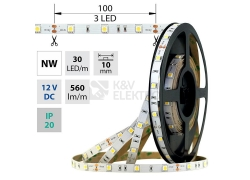 LED pásek McLED SMD5050 7,2W/m 12V IP20 10mm 30LED/m ML-121.664.60.2