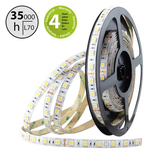 LED pásek McLED SMD5050 neutrální bílá 14,4W/m 12V IP54 10mm 60LED/m ML-121.675.60.0