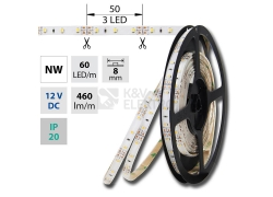 LED pásek McLED SMD3528 4,8W/m 12V IP20 8mm 60LED/m ML-121.773.60.2