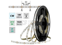 LED pásek McLED SMD2216 12W/m 24V IP20 8mm 180LED/m ML-126.735.60.0