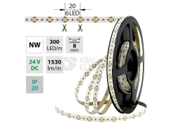 LED pásek McLED SMD2216 18W/m 24V IP20 8mm 300LED/m ML-126.737.60.0