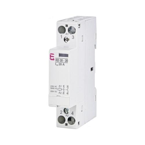 Instalační stykač ETI RD 20-20-230V AC/DC 20A 2NO 002464004