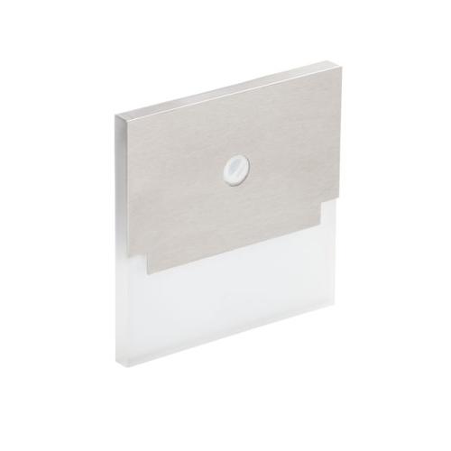 Orientační svítidlo Kanlux SABIK LED PIR P68 CW studená bílá, s pohybovým čidlem 27555