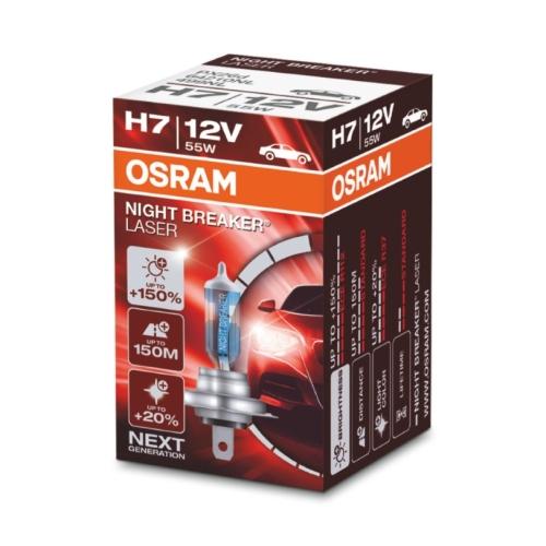Autožárovka Osram Night Breaker LASER H7 64210NL 55W 12V PX26d