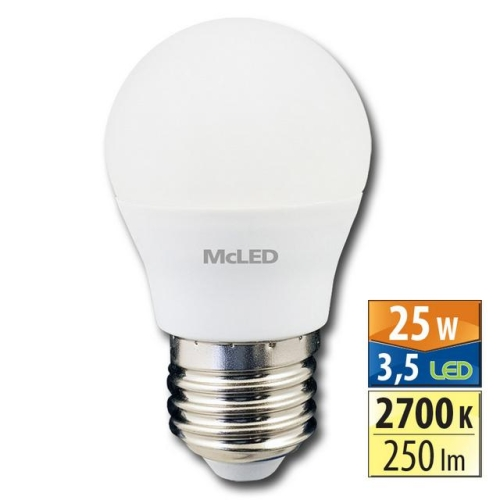 LED žárovka E27 McLED 3,5W (25W) teplá bílá (2700K) ML-324.019.99.0