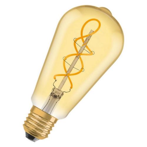 LED žárovka Vintage 1906 E27 Osram 5W (25W) teplá bílá (2000K) RF Filament Gold Edison
