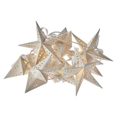 LED vánoční girlanda Emos ZY2064 – hvězdy 2×AA teplá bílá časovač